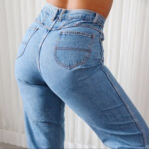 80's High Waisted Light Wash Jeans